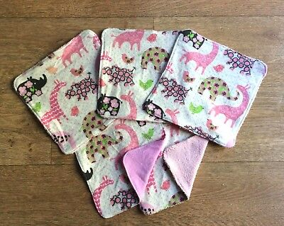 Large cotton reusable washable baby nappy face make up wipe wash cloth flannel