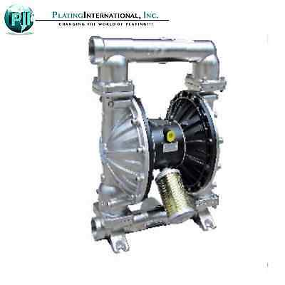 "Industrial Chemical Resistant Stainless 2"" Inch Air TF Diaphragm Pump"