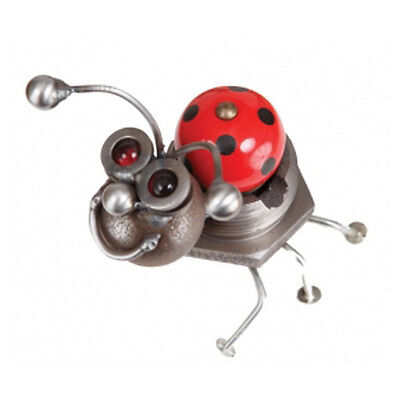 New Handmade Recycled Metal LadyBug Sculpture with Cabinet Knob Yardbirds USA