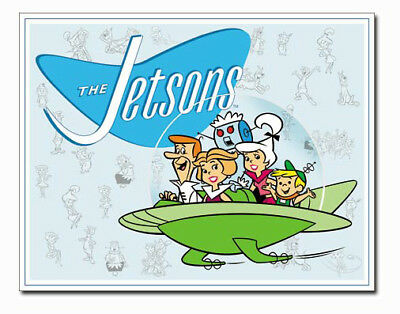 A3 Retro Tin Metal Sign 'THE JETSONS' Hanna Barbera 41x32cm Licensed Product