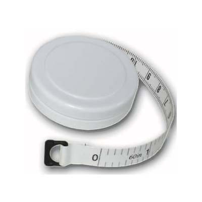 """Retractable Sewing Tape 1.5m/60"""" Body Measure, Tailors, Household and Craft 1-10"""
