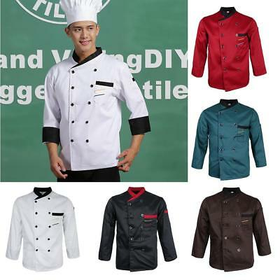 Chef Jacket Catering Uniform Long Sleeve WITH PEN POCKETS Chefwear Coat