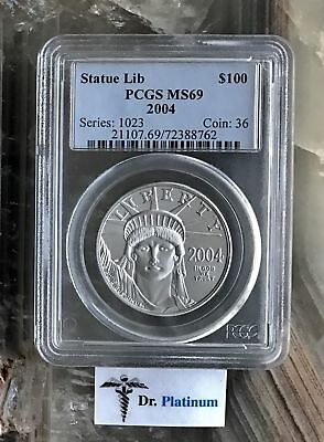 2004 Eagle, US, PCGS MS 69, 1 oz 9995 Platinum Coin - DPSPC6