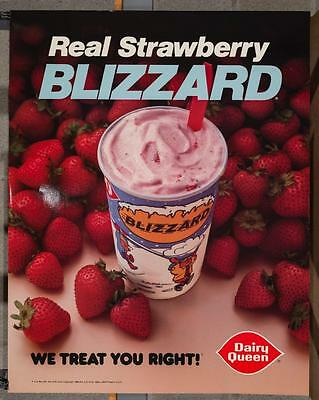 Vintage Dairy Queen Promotional Poster Dennis The Menace Strawberry Blizzard dq2