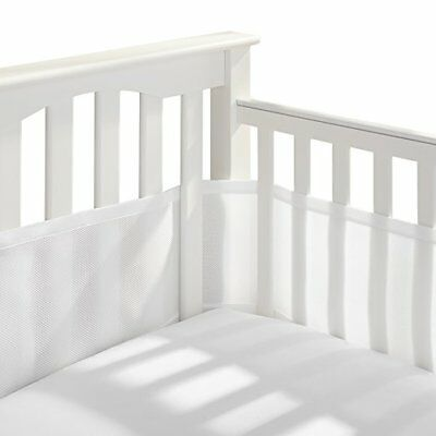 Breathable Baby Breathable Mesh Crib Liner Boy & Girl White