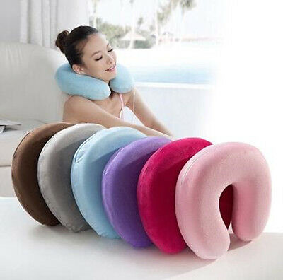 Memory Foam U Shape Pillow Neck Head Rest Air Soft Cushion Home Car Flight BJ