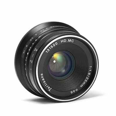 25mm F/1.825-1.8 E-Mount Prime Lens Manual Focus Len Durable Camera Accessor #P