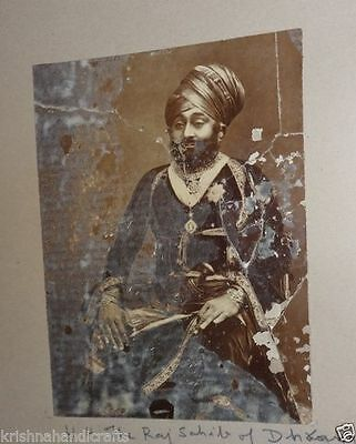 Vintage Old Collectible Early Period Camera Photograph Of Indian King Maharaja