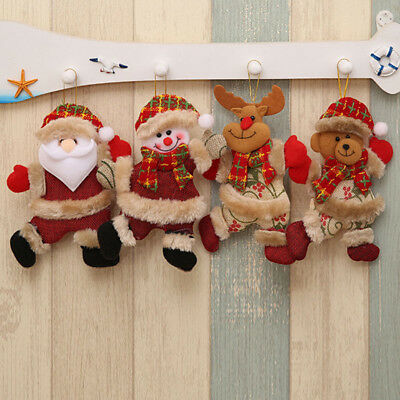 Christmas Santa Claus Deer Ornaments Festival Party Xmas Tree Hanging Decoration
