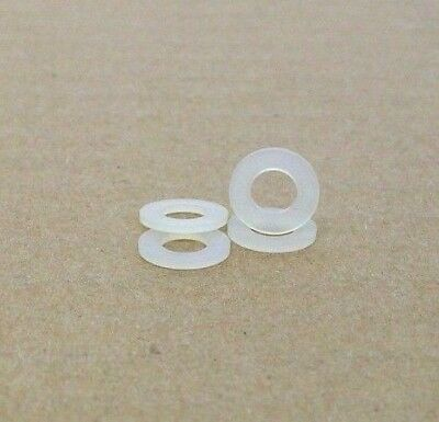 100 NEW #6 NATURAL NYLON FLAT WASHER SPACER 5//16 OD .064 THICK FREE SHIPPING NH