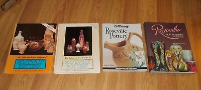 Lot 4 books on ROSEVILLE POTTERY Collectors Encyclopedia 1st 2nd series, Warmans