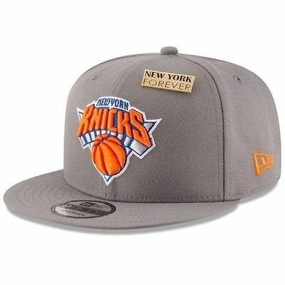 innovative design c0716 d68a1 New Era New York Knicks Gray 2018 NBA Draft 9FIFTY Adjustable Hat