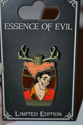 Disney Essence Of Evil Gaston Primeval Pin New On Card Le 3000