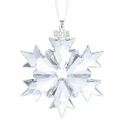 Original Swarovski Crystal 2018 Annual Edition Large Christmas Ornament Snowflak