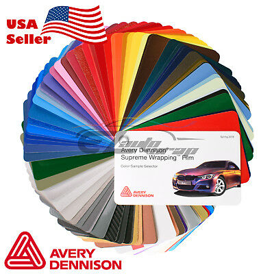 Newest Avery Dennison Supreme Sample Swatch Deck Book Wrap Vinyl Wrapping Film