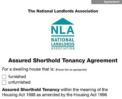 Assured Shorthold Tenancy Agreement (AST) x 2 & How to Rent Guide - England Only