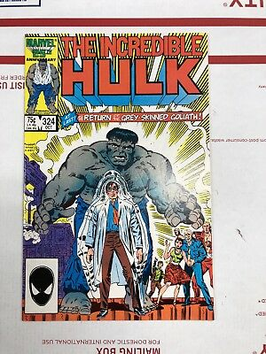 The Incredible Hulk #324 (Oct 1986, Marvel) Second Appearance Of The Grey Hulk