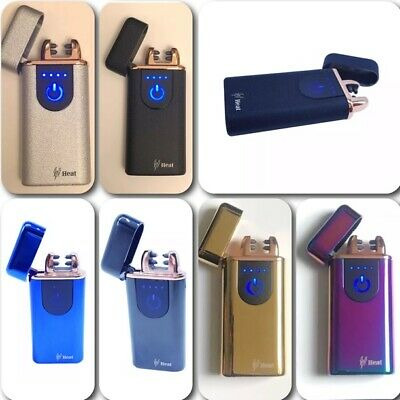 Rechargeable Double Electric USB Dual Arc Arch Plasma Pulse Windproof Lighter