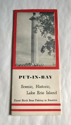 1939 PUT-IN-BAY Ohio w/MAP Scenic, Historic, Lake Erie FISHING, SHIPS, AIRPLANE