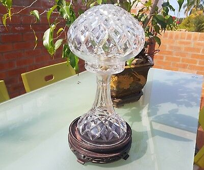 Large Art Deco Crystal Lamp.art Deco Table Bedroom Lamp