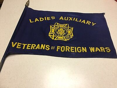 Vintage Ladies Auxiliary Veterans of Foreign Wars Flying Flag  FREE SHIPPING
