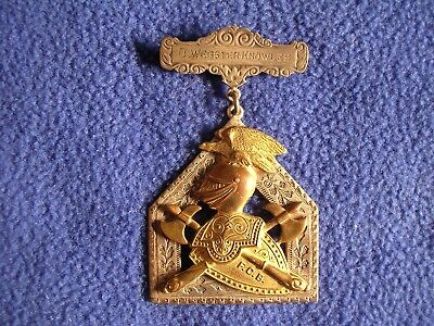 Vintage Knights Of Pythias Jewel D. Webster Knowles FCB Fraternal Lodge Silver