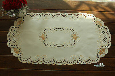 """Christmas Bells Embroidered Table Runner 14x27"""" Home Wedding Decoration Ornament"""