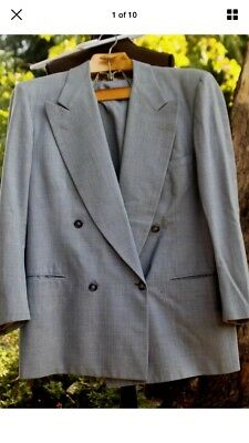 1940s Double breasted two piece suit, Jacket pants, hollywood waist, 42 L