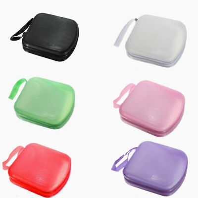 Plastic 40 CD DVD VCD Carry Case Car Disc Storage Holder Protector Sleeve Wallet