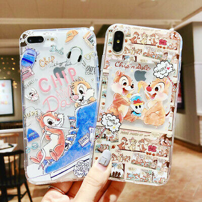 Silicone Disney Chip 'n' Dale Phone Case Cover For iPhone X XS Max XR 6 7 8 Plus