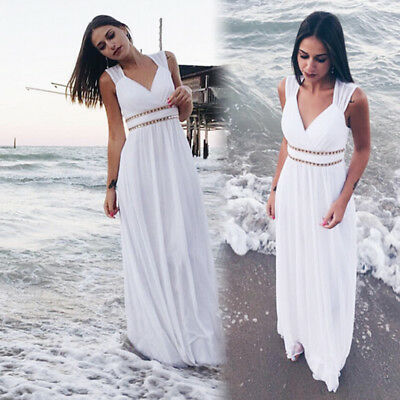 61fc45b1 Ever-Pretty White Beach Summer Dress Long Chiffon Formal Party Dresses 08697