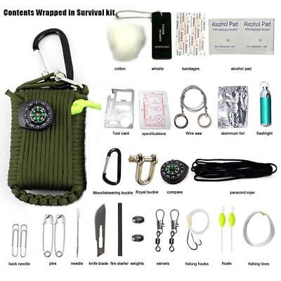 29 in 1 Outdoor Survival Kit Camping Rescue Gear Emergency Bag First Aid Tools
