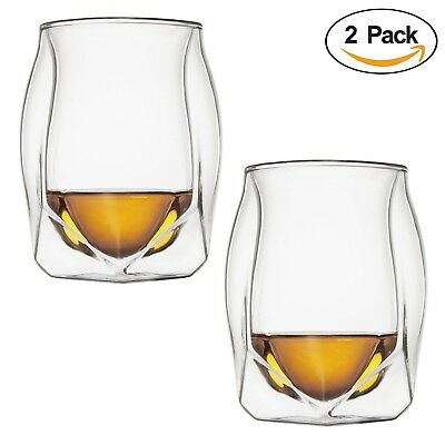 Double Walled Glass 4 Pack - 200ml Heat Resistant Glass, Coffee Espresso Tumbler