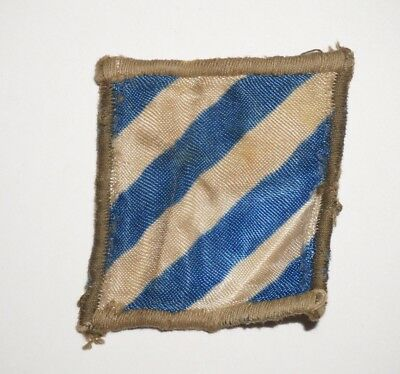 3rd Infantry Division Silk Theater Made Patch WWII US Army P8046