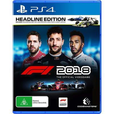 Formula One F1 2018 Headline Edition PlayStation 4 PS4 GAME BRAND NEW FREE POST