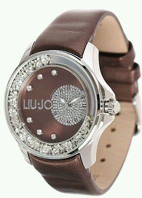 Liu Jo Orologio Watch Woman Uhr Donna Pelle TLJ731 Marrone Dancing Strass  Sconto ea11a59fed7