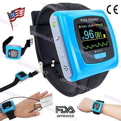 CONTEC 24h Recording Wrist Pulse Oximeter Spo2 heart rate Monitor Software FDA