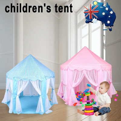 Girl Princess Castle Cute Playhouse Children Kid Play Tent Outdoor Toy Pink Blue