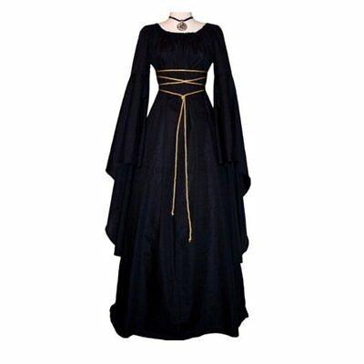 Women Halloween Costume Wench Victorian Renaissance Dress Witch Medieval Cospl V
