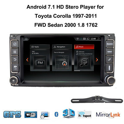 Android 7.1 Car Stero Player GPS WiFi Touch BT Radio for Toyota Corolla+Camera