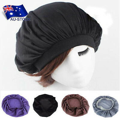 Long Hair Care Women Satin Bonnet Cap Night Sleep Hat Silk Cloth Head Wrap Cap
