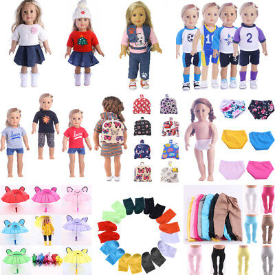 UK 18inch Doll Clothes Accessories For American Girls/Our Generation Doll hw
