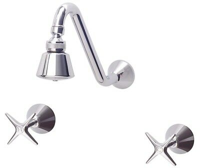 Sussex 3001 CURVED SHOWER SET 8.5Litres/Min Chrome *Australian Made