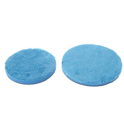5/6inch Car Microfiber Buff Polishing Plated Pad For Rotary DA Polishers Blue