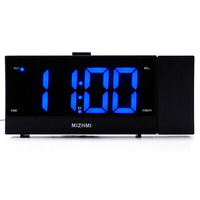 Digital LED Snooze Electronic Projection Alarm Clock with USB Charging Port