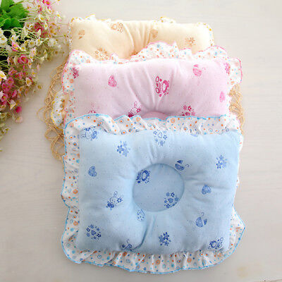 Cotton Cartoon Newborn Baby Anti-rollover Head Protection Sleep Shaping Pillow~