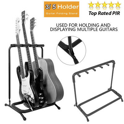 3 5 Way Multi Guitar Stand Foldable Acoustic Electric Bass Guitar Display Racks