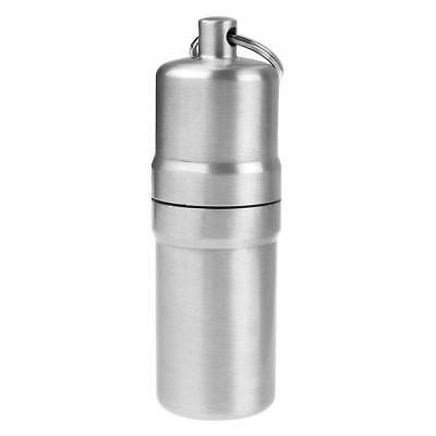 Silver Waterproof Mini 10 Cigars Aluminum Cigarette Case Holder with Key Chain