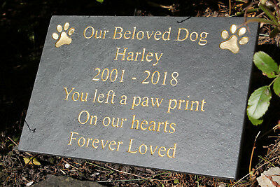 High Quality Slate Engraved Pet Memorial Dog Cat Rabbit Any Pet 30cm x 20cm