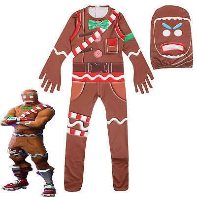 Fortnite Halloween Costume MERRY MARAUDER Cosplay Oufits Jumpsuit Playsuit MASK